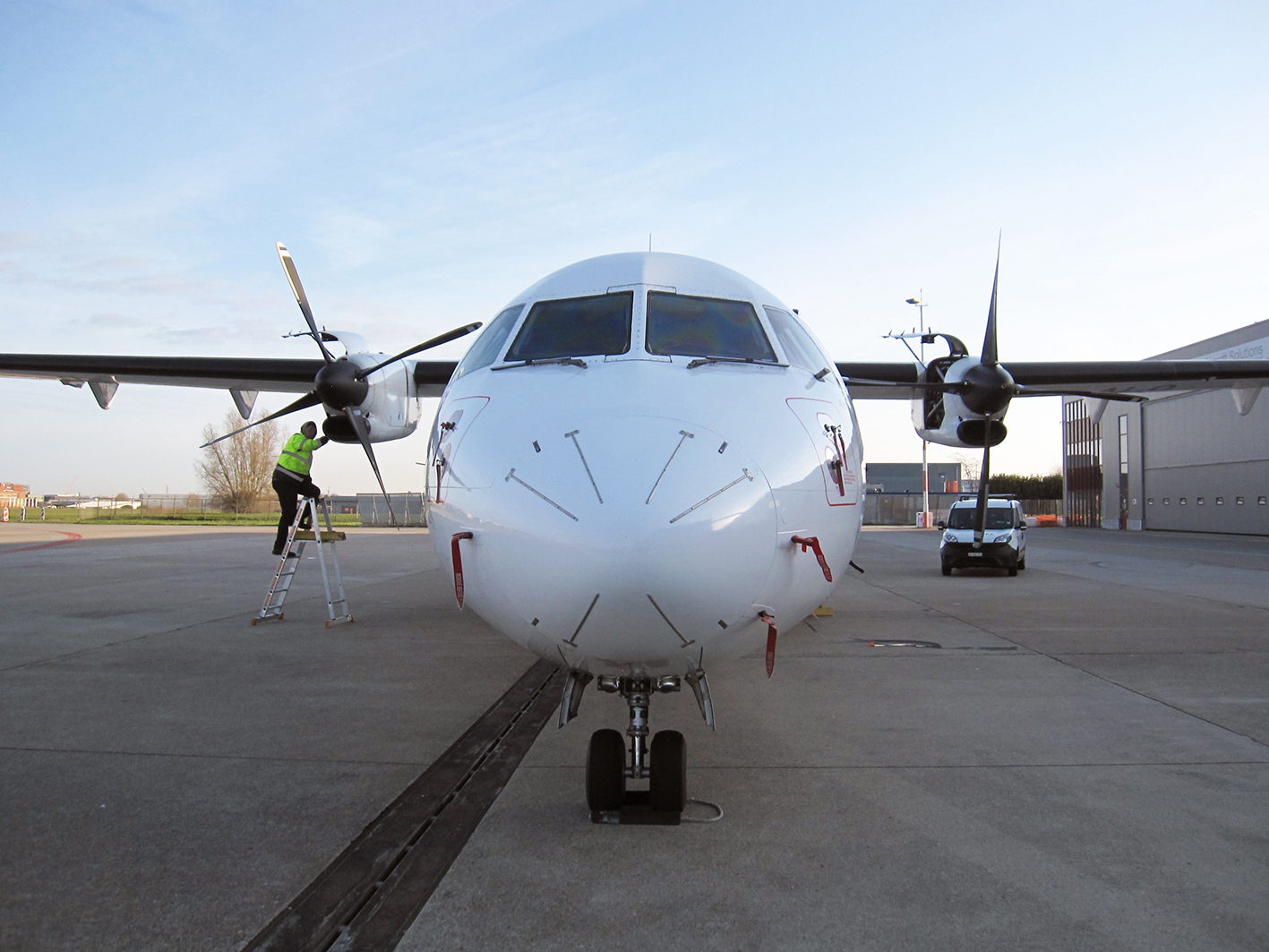 Swiss aviation consulting Inspection of an ATR in the Netherlands