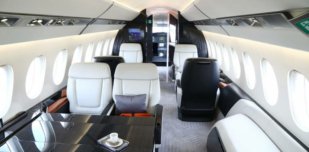 Dassault brought the mockup of the large-cabin 6X to the Singapore Airshow.