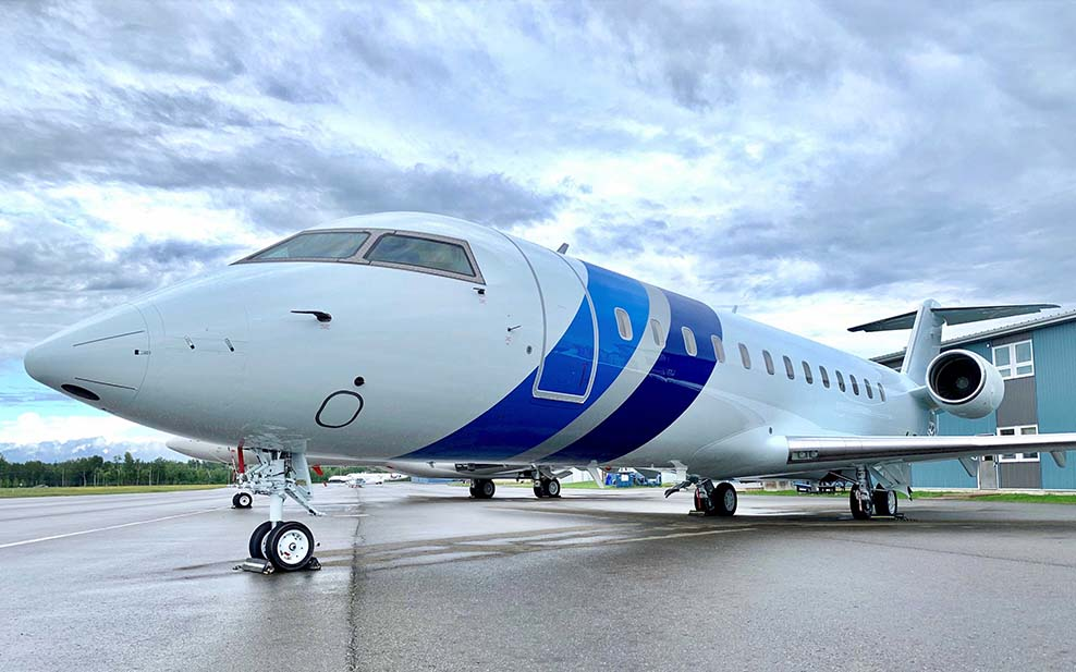 Flying Colours Corp completes the third Challenger 850 conversion in trio of corporate shuttles