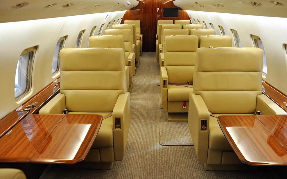 The 15-seat VIP aircraft is transformed into a 19-seat corporate shuttle