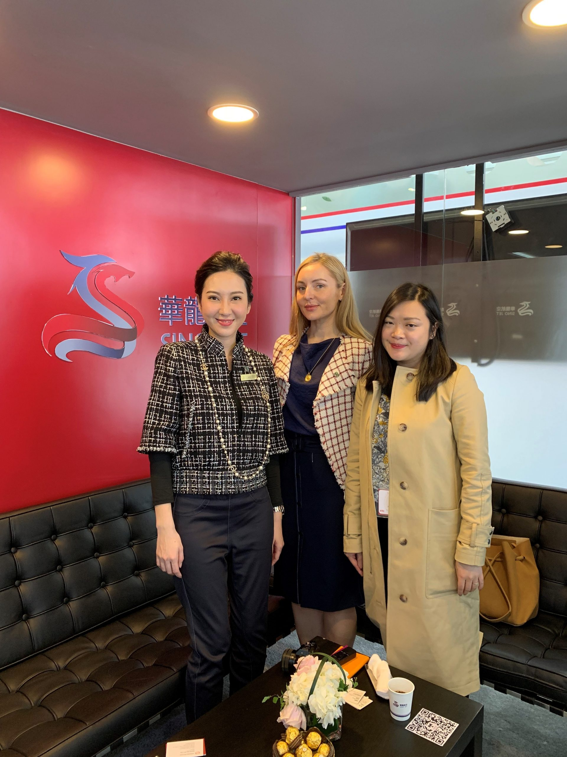 sarah keates and white orchid insights with sino jet at abace, shanghai